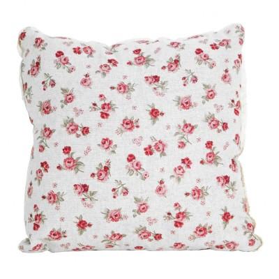 Подушка декор «Red Rose» с кружевом | Прованс