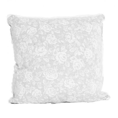 Подушка декор «White Rose» с кружевом | Прованс