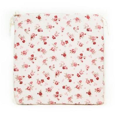 Подушка с кружевом на стул «Red Rose» Прованс