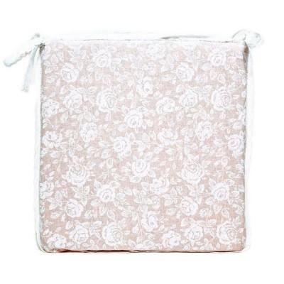 Подушка с кружевом на стул «White Rose» Прованс