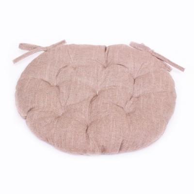 Подушка круглая на стул «Bohema-Taupe» Прованс