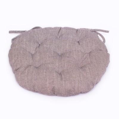 Подушка круглая на стул «Bohema-Antracite» Прованс