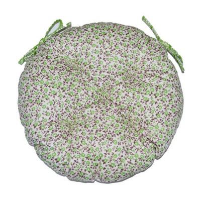 Подушка круглая на стул «Цветы-Олива» Прованс Классик