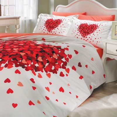 Комплект постельного белья поплин «Juana» красный Hobby
