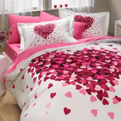 Комплект постельного белья поплин «Juana» полуторный | розовый | Hobby