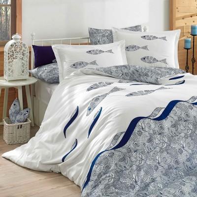 Комплект постельного белья поплин «Blues» евростандарт | Hobby