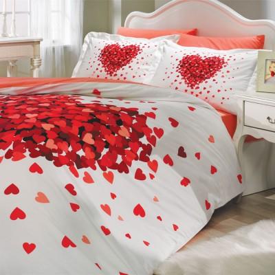 Комплект постельного белья поплин «Juana на резинке» красный   Hobby