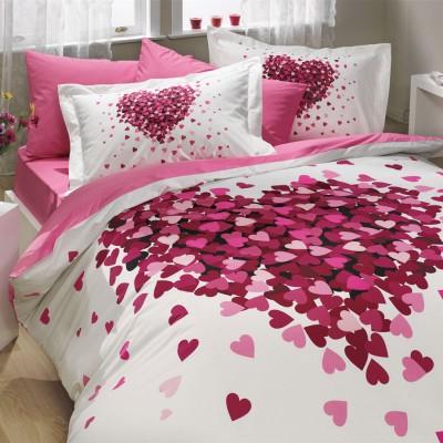 Комплект постельного белья поплин «Juana» на резинке | розовый | Hobby