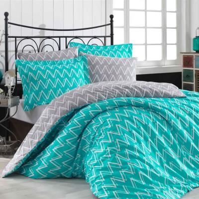 Комплект постельного белья поплин «Nazende» берюза Hobby