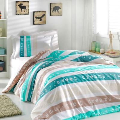 Комплект постельного белья поплин «Sweet Dreams» мятный Hobby