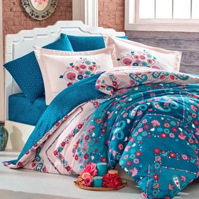 Комплект постельного белья сатин «Exclusive Sateen Sancha» синий | Hobby