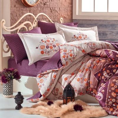 Комплект постельного белья сатин «Sancha» Hobby