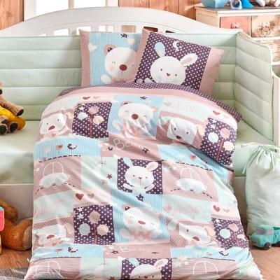 Детский комплект постельного белья поплин «Snoopy» мятный | Hobby