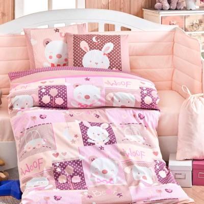 Детский комплект постельного белья поплин «Snoopy» розовый | Hobby