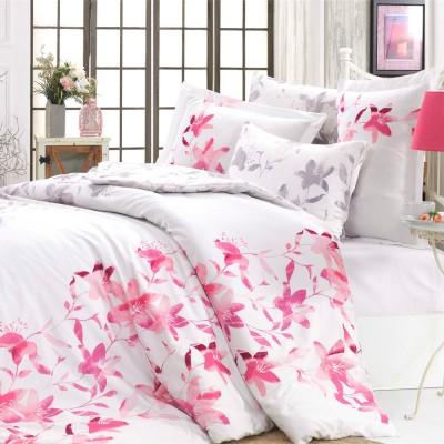 Комплект постельного белья сатин «Lucia» фуксия Hobby