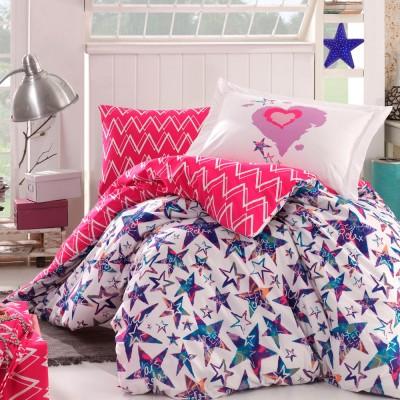 Комплект постельного белья поплин «Carmen» фуксия Hobby