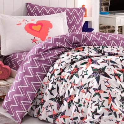 Комплект постельного белья поплин «Carmen» берюза Hobby