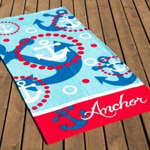 Полотенце пляжное велюр «Anchor» 75*150 | Lotus