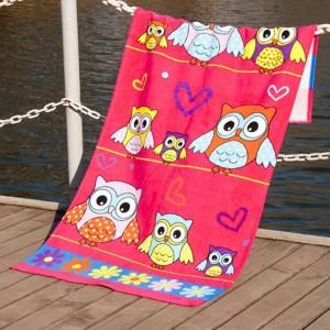 Полотенце пляжное велюр «Owls» 75*150 | Lotus