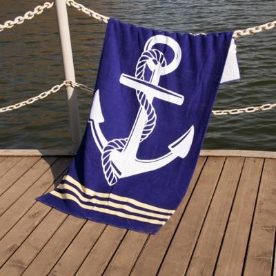 Полотенце пляжное велюр «Deep Sea» 75*150 | Lotus