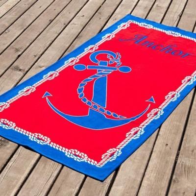 Полотенце пляжное велюр «Mooring» 75*150 | Lotus