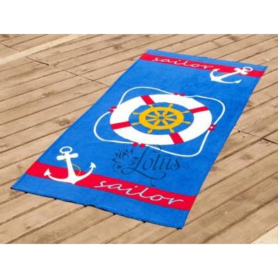 Полотенце пляжное велюр «Lifebuoy» 75*150 | Lotus