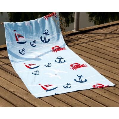Полотенце пляжное велюр «Crabs» 75*150 | Lotus