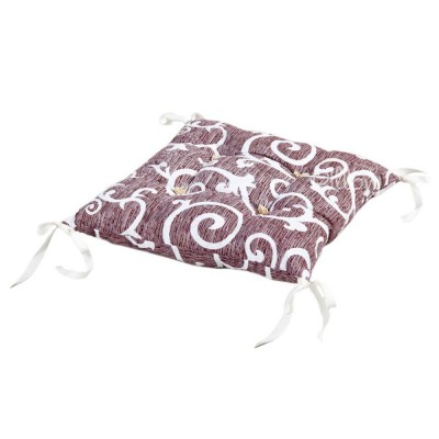 Подушка на стул «Jaco с завязками коричневый» 45*45 | Lotus