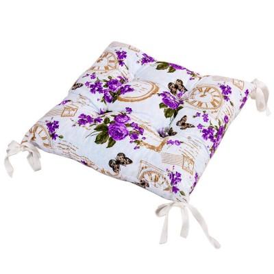 Подушка на стул «Limoges с завязками лиловый» 45*45 | Lotus