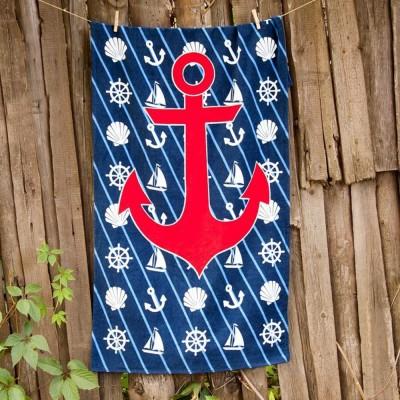 Полотенце пляжное велюр «Sea Adventure» 75*150 | Lotus