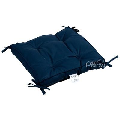 Подушка на стул «Optima с завязками синяя» 40*40*5 | Lotus
