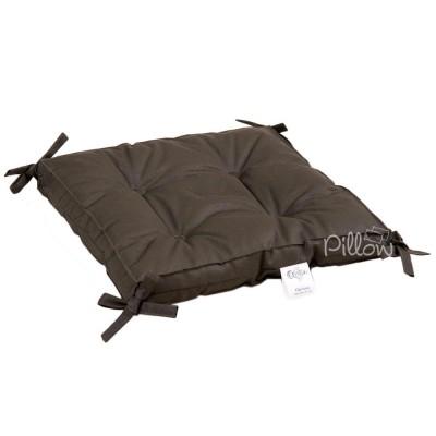 Подушка на стул «Optima с завязками хаки» 40*40*5 | Lotus