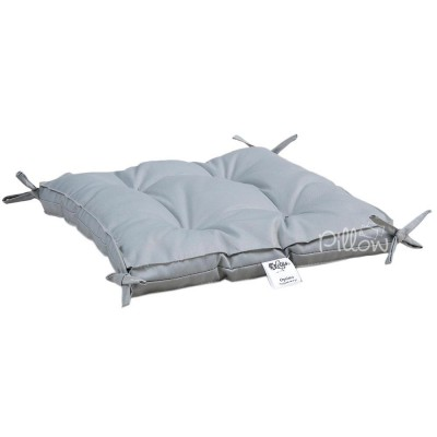Подушка на стул «Optima с завязками серая» 40*40*5 | Lotus