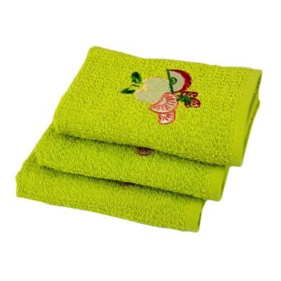 Полотенце кухонное вышивка «Fruit зеленый» 40*60 | Lotus