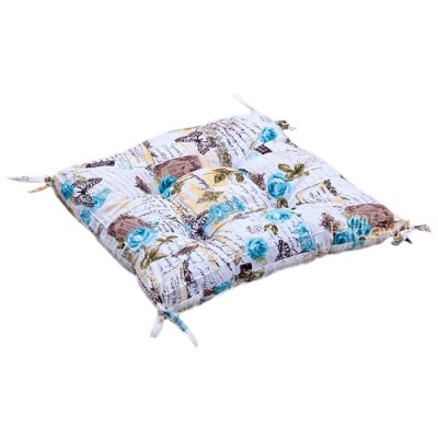 Подушка на стул «Juliana с завязками бирюзовый» 45*45 | Lotus