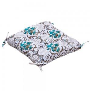 Подушка на стул «Queen с завязками бирюзовый» 45*45 | Lotus