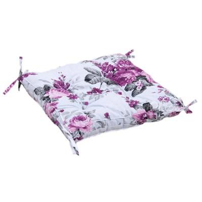 Подушка на стул «Fiona с завязками лиловый» 45*45 | Lotus