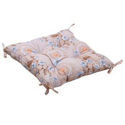 Подушка на стул «Osaka с завязками серый» 45*45 | Lotus