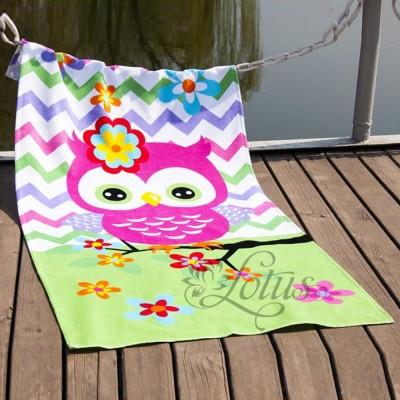 Полотенце пляжное велюр «Little Owl» 75*150 | Lotus