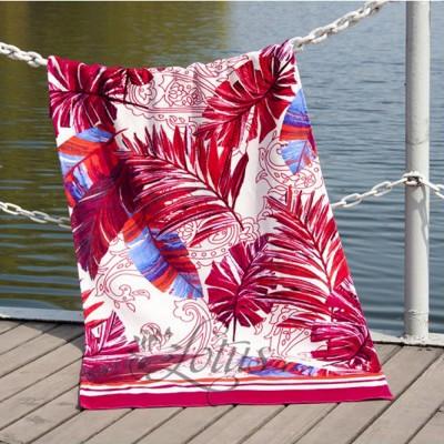 Полотенце пляжное велюр «Paradise Fusya» 75*150 | Lotus