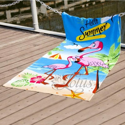 Полотенце пляжное велюр «Flamingo» 75*150 | Lotus