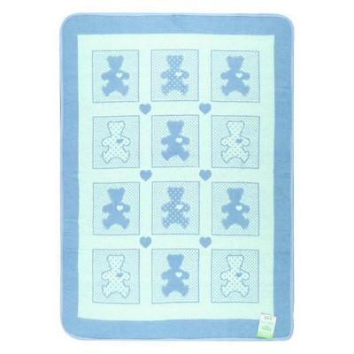 Одеяло детское «Барни» 100*140 | голубой | Vladi