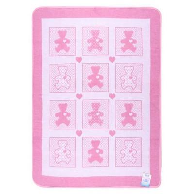 Одеяло детское «Барни» 100*140 | розовый | Vladi