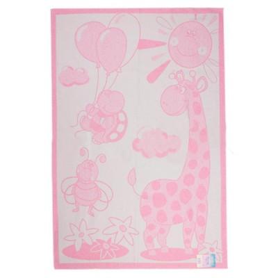 Одеяло детское «Жираф» 100*140 | розовый | Vladi
