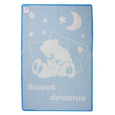 Одеяло детское «Сони» 100*140 | голубой | Vladi