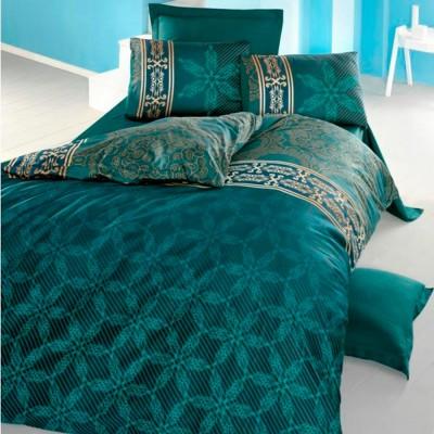Комплект постельного белья сатин-жаккард «Alisa» евро | зеленый | Victoria