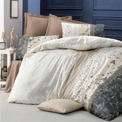 Комплект постельного белья сатин-жаккард «Ivy» евро | Victoria