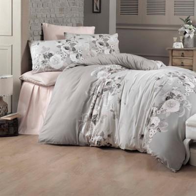 Комплект постельного белья сатин-жаккард «Hevin» евро | Victoria