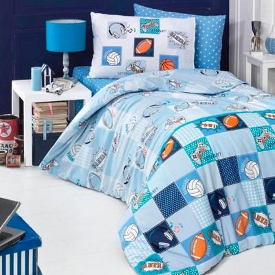 Комплект постельного белья ранфорс «Play» полуторный | Light House