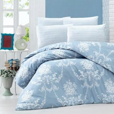Комплект постельного белья ранфорс «Cloria» евро | голуб | Light House